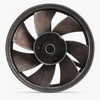 small ventilation fan 2 3D model
