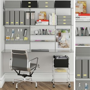 3D model set office