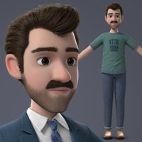 man cartoon 3D