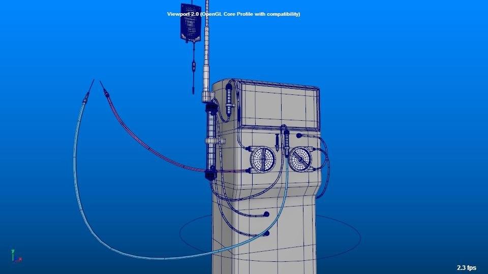 dialysis machine 3D
