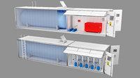 3D construction lpg gas station model