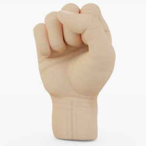 3D hand fist model