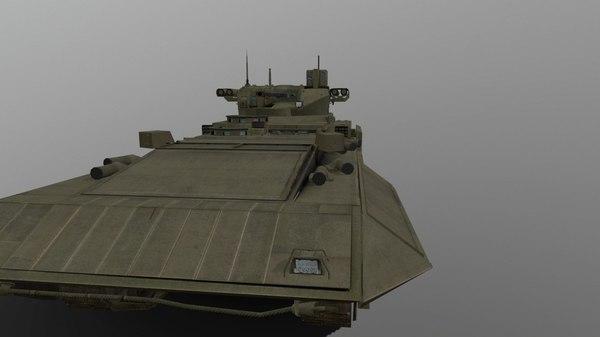 t-15 armata arma 3D model