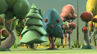Low Poly tree Big collection
