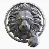 lion head circle 3D model