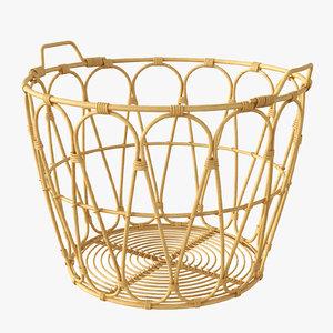 3D snidad basket rattan