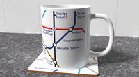 maps mug coaster 3D model