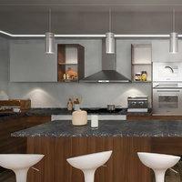 3D modern design kitchen cabinets model