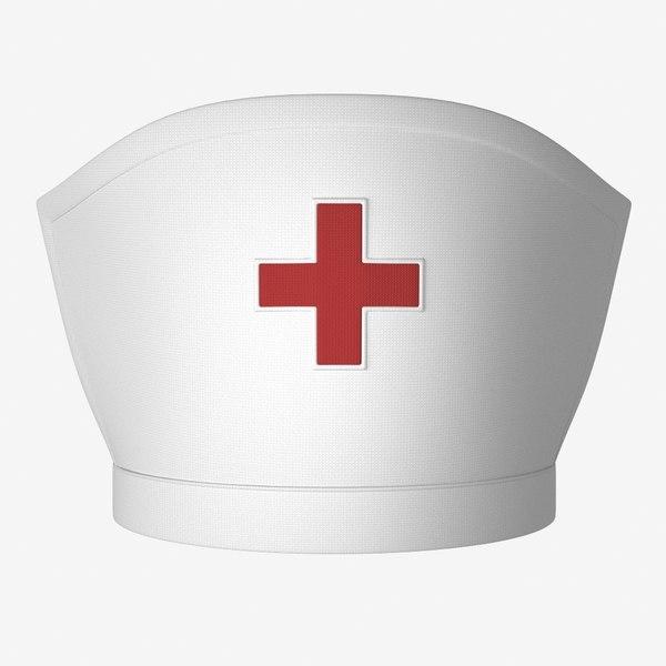nurse hat 3D model