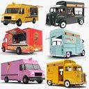food trucks 3D model