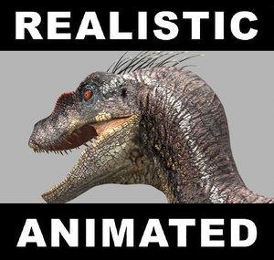 jurassic park raptor 3d model