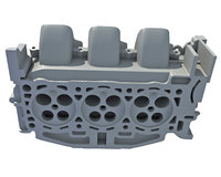 engine head 3D