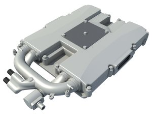 3D model supercharger