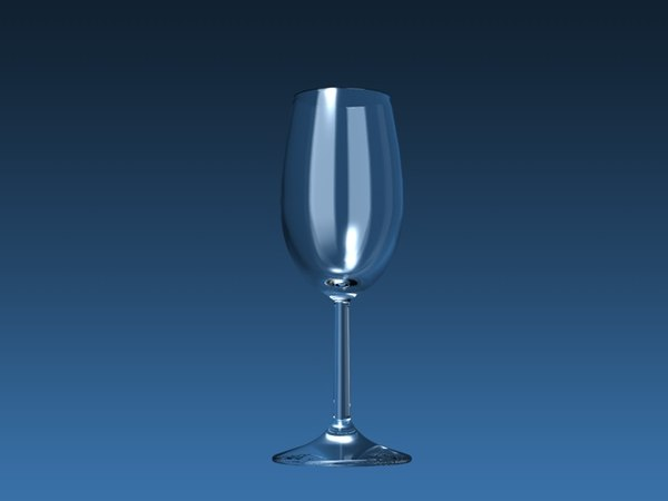 ransparent wine glass 3D