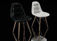 chair eames dsw pu 3D model