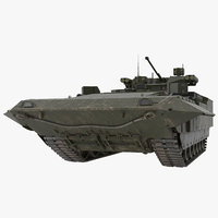t-15 armata green dirt 3D model
