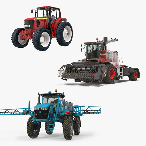 farm vehicles 3D