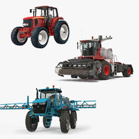 farm vehicles 3D