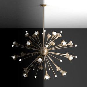 3D jonathan adler sputnik chandelier model