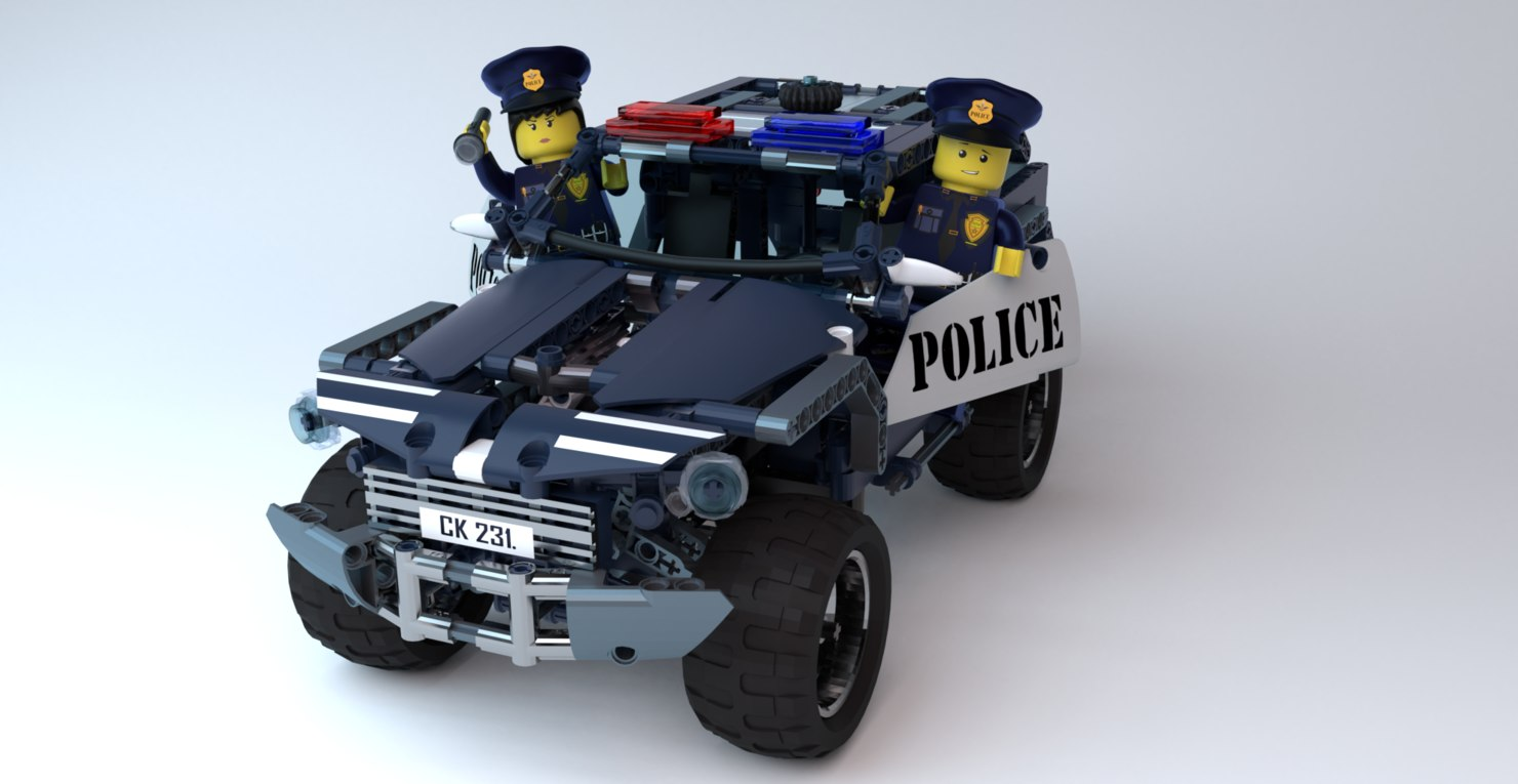 lego cop car 3D