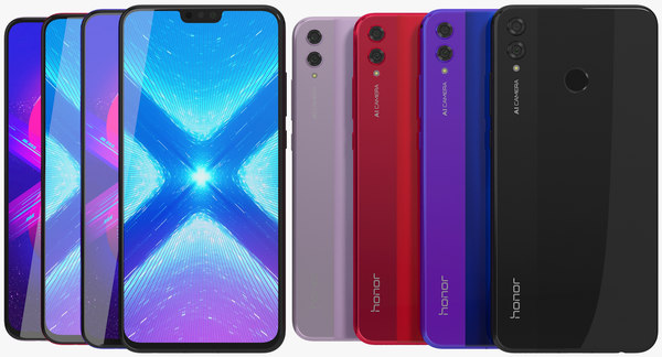 realistic honor 8x colors model