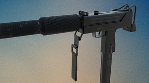 suppressed rigged 3D model