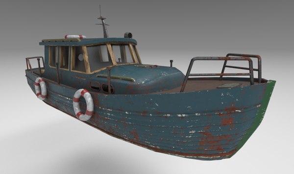 motorboat boat 3D model