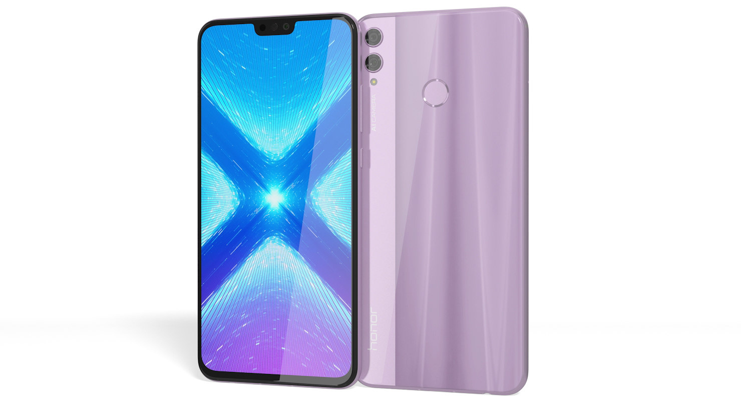 3D realistic honor 8x pink