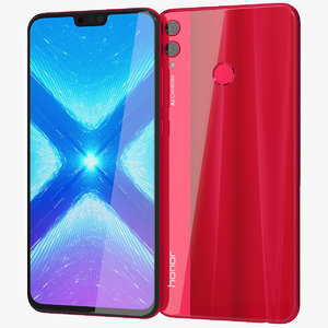 3D realistic honor 8x red