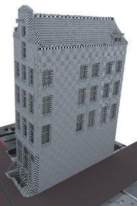3D dutch hause netherlands