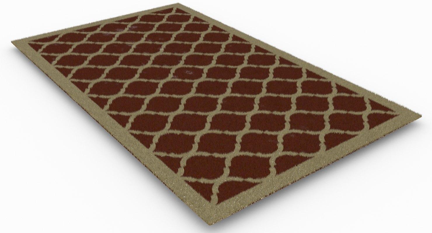 contemporary rug 3D