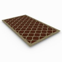 contemporary rug 3D
