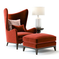 3D sofa chair monroe armchair table