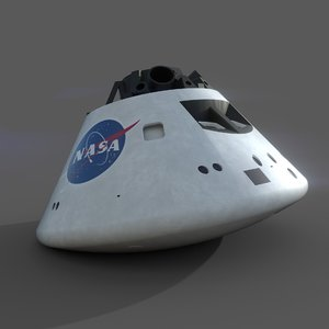 orion capsule 3 sets 3D model