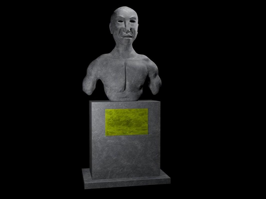 statue stone 3D model