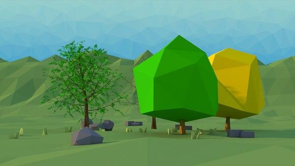 scene tree american elm 3D model