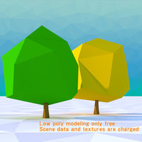 3D tree american elm model