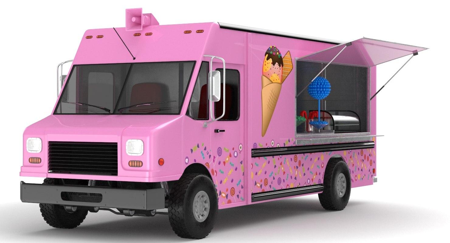 3D model food trucks candy