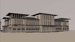 3D ankara bestepe cumhurbaskanligi kulliyesi model