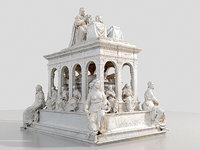 3D royal tomb cathedral