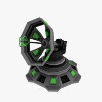 sci-fi communication antenna 3D model