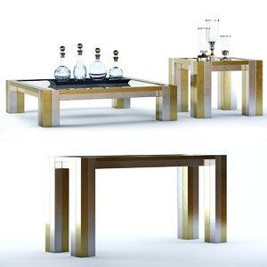 3D table titan console model