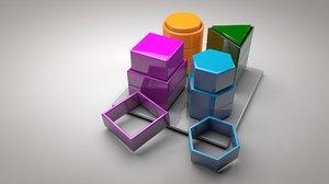 sorter stacker matching blocks 3D