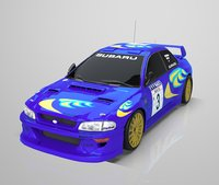 Subaru Impreza WRC 1999 low poly