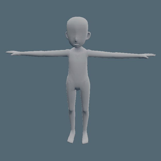 3d Anime Child Character Template Model Turbosquid 1346883