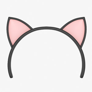cat ears headband model