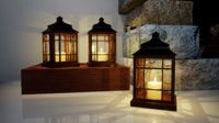 3D model furniture norvedem wooden lamp