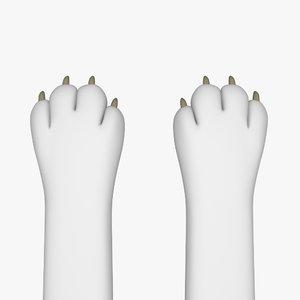 3D animal paw