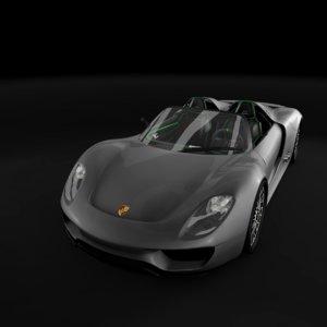 porsche 918 spyder car wheels 3D