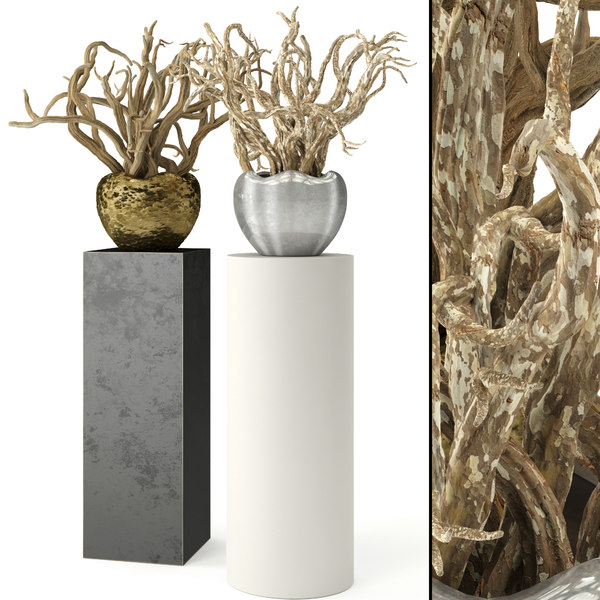3D realistic snags urns model